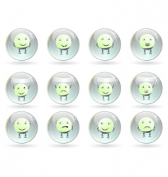 emotions smileys vector image vector image