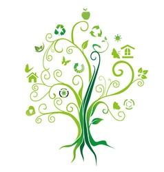Environmental protection tree vector