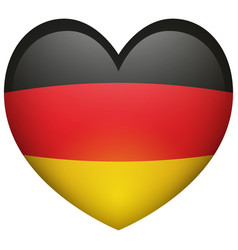 Flag of germany in heart shape vector