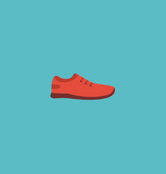 flat icon sneakers element of vector image