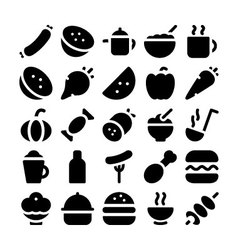 Food icons 10 vector