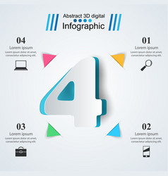 Four business infographics origami style vector