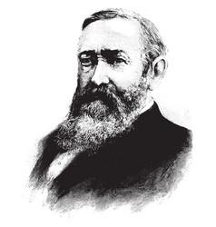 general benjamin harrison vintage vector image vector image