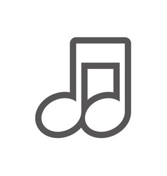 Grayscale contour with musical note vector