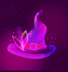 Halloween bright hat for holiday design vector