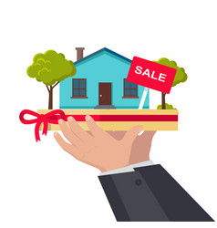 house sale concept in flat design vector image vector image