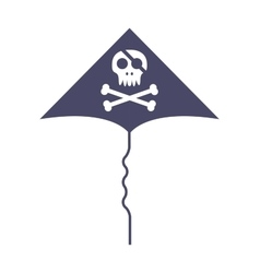 Jolly roger skull and cross bones pirate death vector image