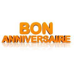 orange happy birthday 3d banner vector image