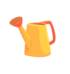 orange watering can agriculture tool cartoon vector image