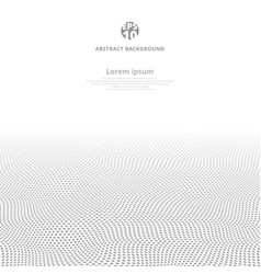 Polka dot wave gray pattern texture perspective vector