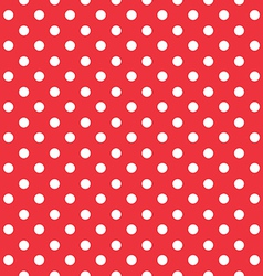 red background polka fabric with white dots vector image vector image