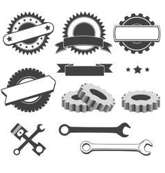 Set of badge emblem logotype element for vector