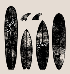 set of surf boards vector image vector image