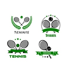 Set of Tennis badges or emblems vector image vector image