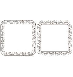 Set openwork frame for design vector