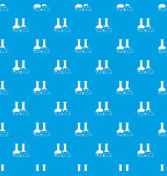 transparent flasks pattern seamless blue vector image