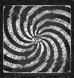 Vintage hypnotic poster vector image vector image