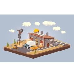 Warehouse in the desert vector