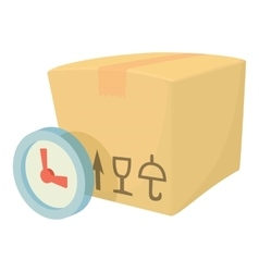 Weight box icon cartoon style vector
