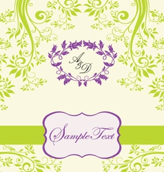 Floral invitation card vector