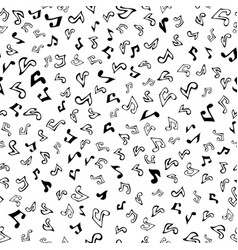 seamless music pattern vector image