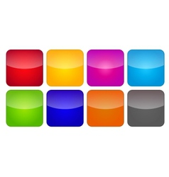 Colored application icons for mobile phones and vector