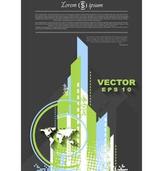 Abstract minimal tech background vector image