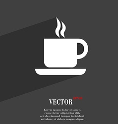 Coffee icon symbol flat modern web design with vector