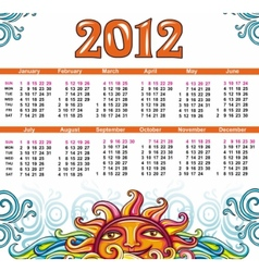 Decorative calendar for 2012 vector