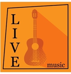 Live music poster template vector