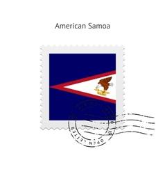 American samoa flag postage stamp vector