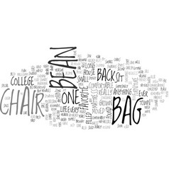 Bean bag chair text word cloud concept vector