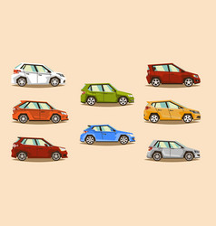 car set vehicle hatchback the image of toy vector image vector image