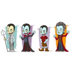 cartoon scary vampire family characters set vector image vector image