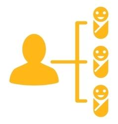 Children links icon vector