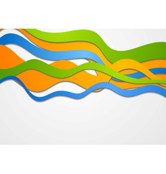 Colorful waves vector image vector image