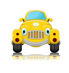 Cute car cartoon vector