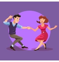 Dancing men and woman vector