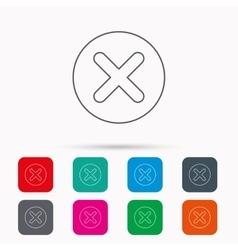 Delete icon Decline or Remove sign vector image