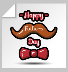 Fathers day icons 10 vector