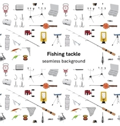 Fishing tackle seamless background vector