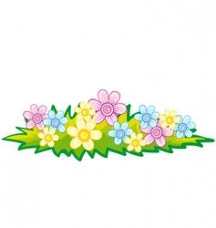 flowerbed vector image vector image
