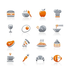 Food Icons Set 1 Graphite Series vector image vector image