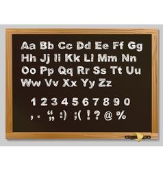 Hand-drawn chalk alphabet vector