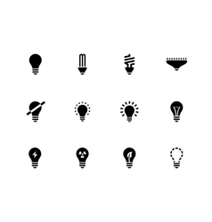 Light bulb and cfl lamp icons on white background vector