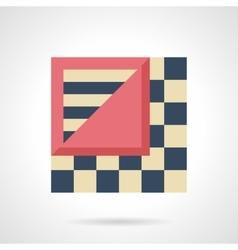 Linoleum levels flat color icon vector