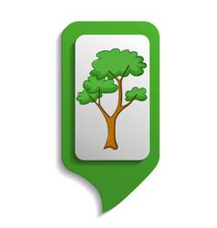 map sign savanna tree icon cartoon style vector image vector image
