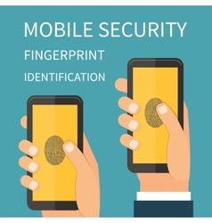 Mobile internet secutiry fingerprint vector