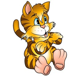 Orange Kitten vector image vector image