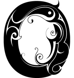 Ornamental Alphabet vector image vector image